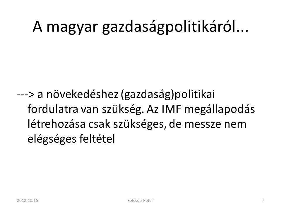 A magyar gazdaságpolitikáról... ---> a növekedéshez (gazdaság)politikai fordulatra van szükség.