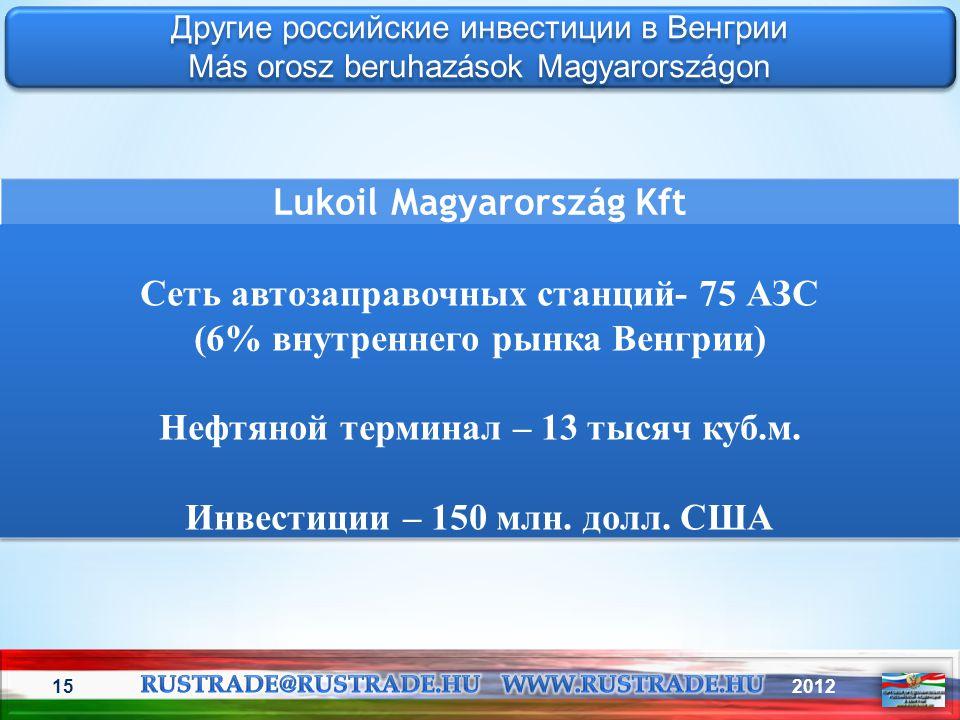 201215 Другие российские инвестиции в Венгрии Más orosz beruhazások Magyarországon Другие российские инвестиции в Венгрии Más orosz beruhazások Magyar