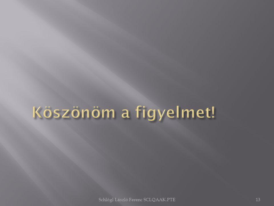 Schlőgl László Ferenc SCLQAAK.PTE13