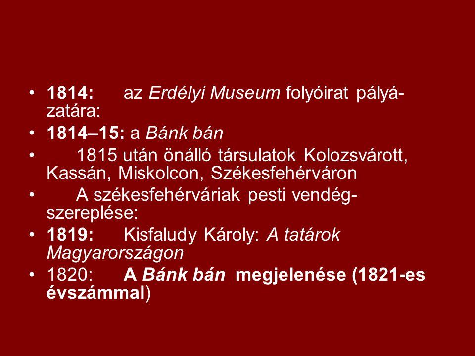•1821:a Tudományos Gyűjteményben Katona tanulmánya: Mi az oka, hogy Magyarországon a játékszíni költőmesterség lábra nem tud kapni.