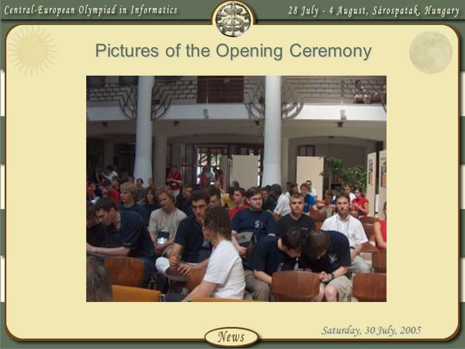 Pictures of the Opening Ceremony