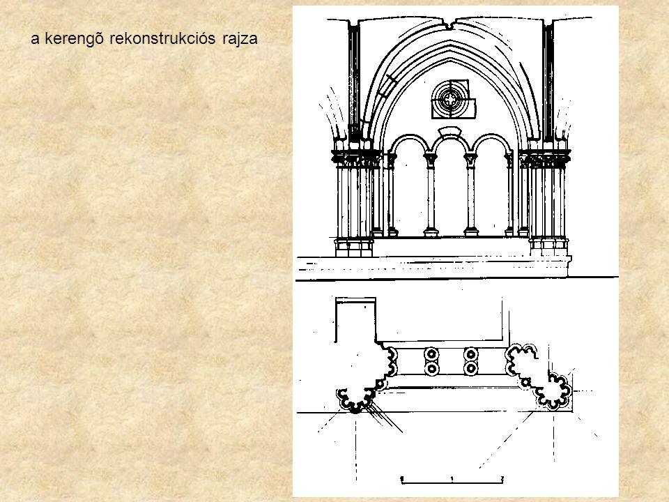 a kerengõ rekonstrukciós rajza