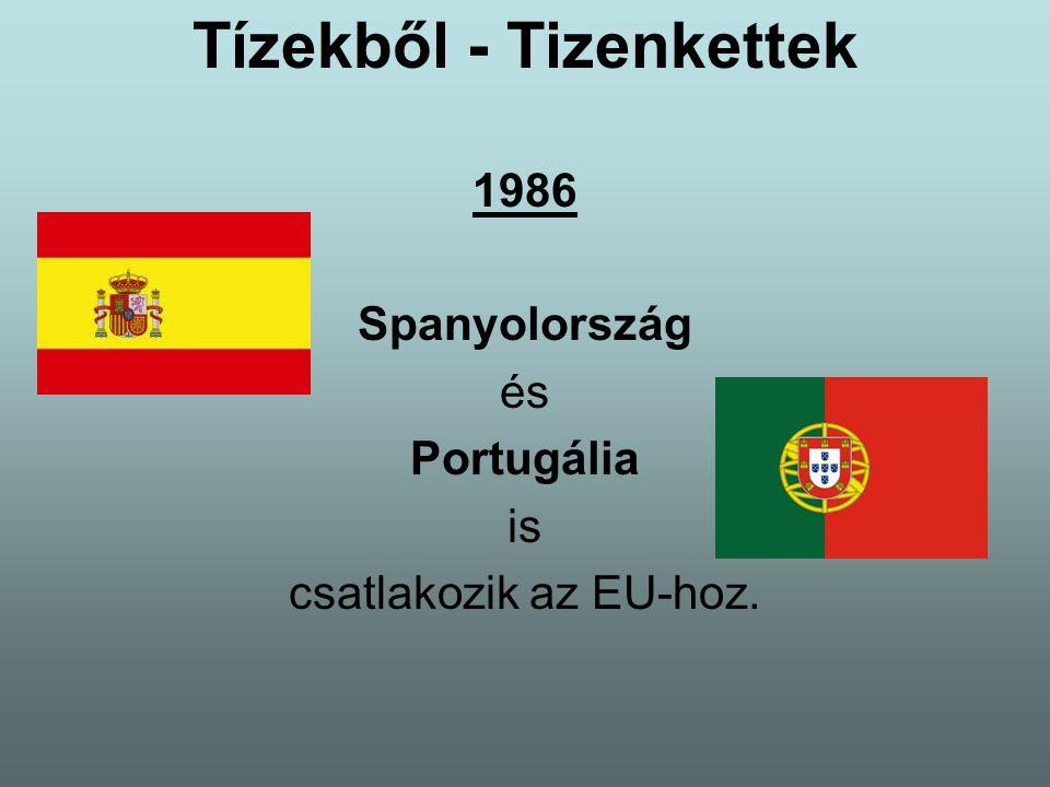Tízekből - Tizenkettek 1986 Spanyolország és Portugália is csatlakozik az EU-hoz.