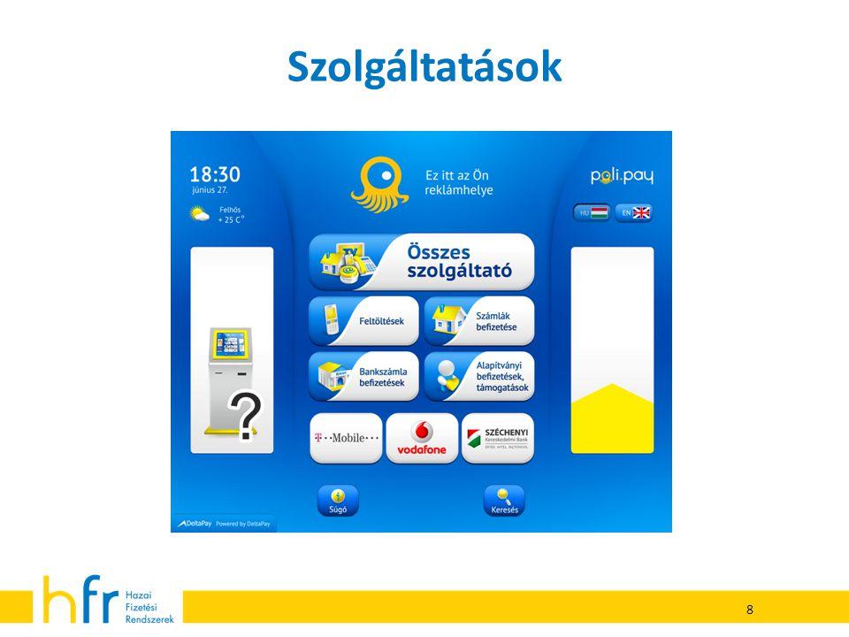 A Poli.Pay egy kényelmi szolgáltatás  Bizonyos szolgáltatások esetén a terminál csekély összegű tranzakciós díjat számol fel.