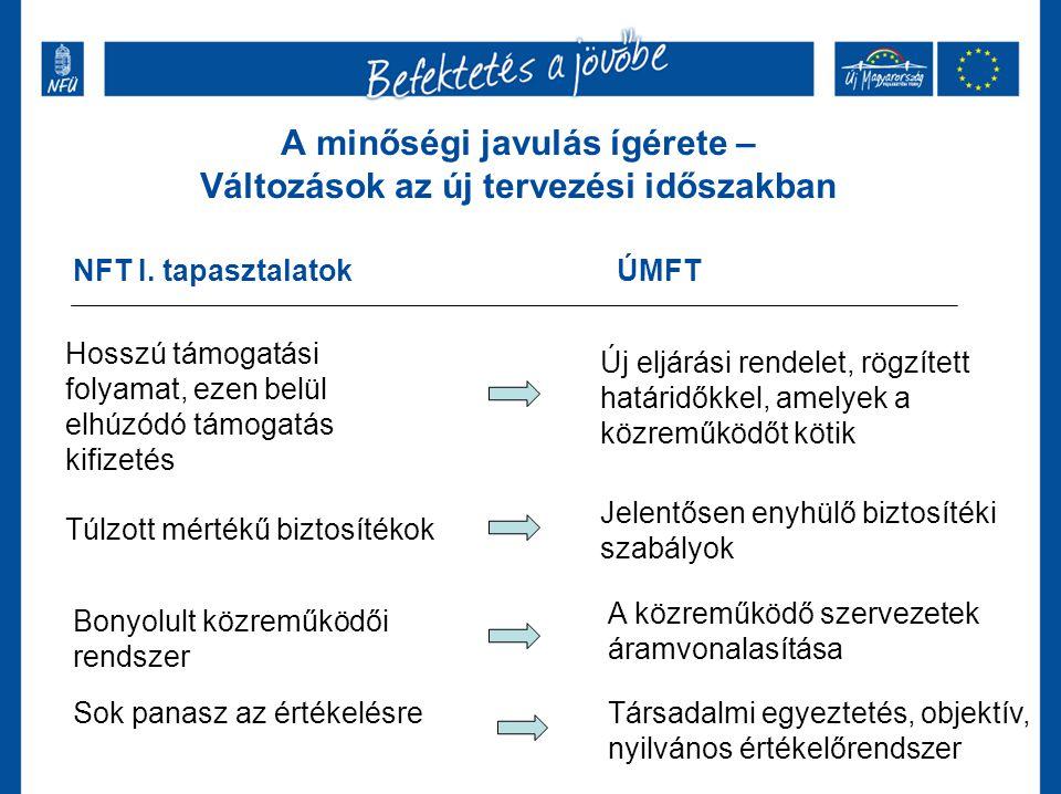 A minőségi javulás ígérete – Változások az új tervezési időszakban NFT I.