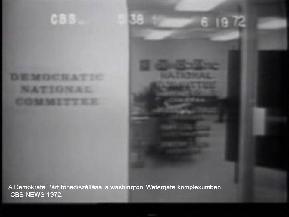 A Demokrata Párt fôhadiszállása a washingtoni Watergate komplexumban. -CBS NEWS 1972.-