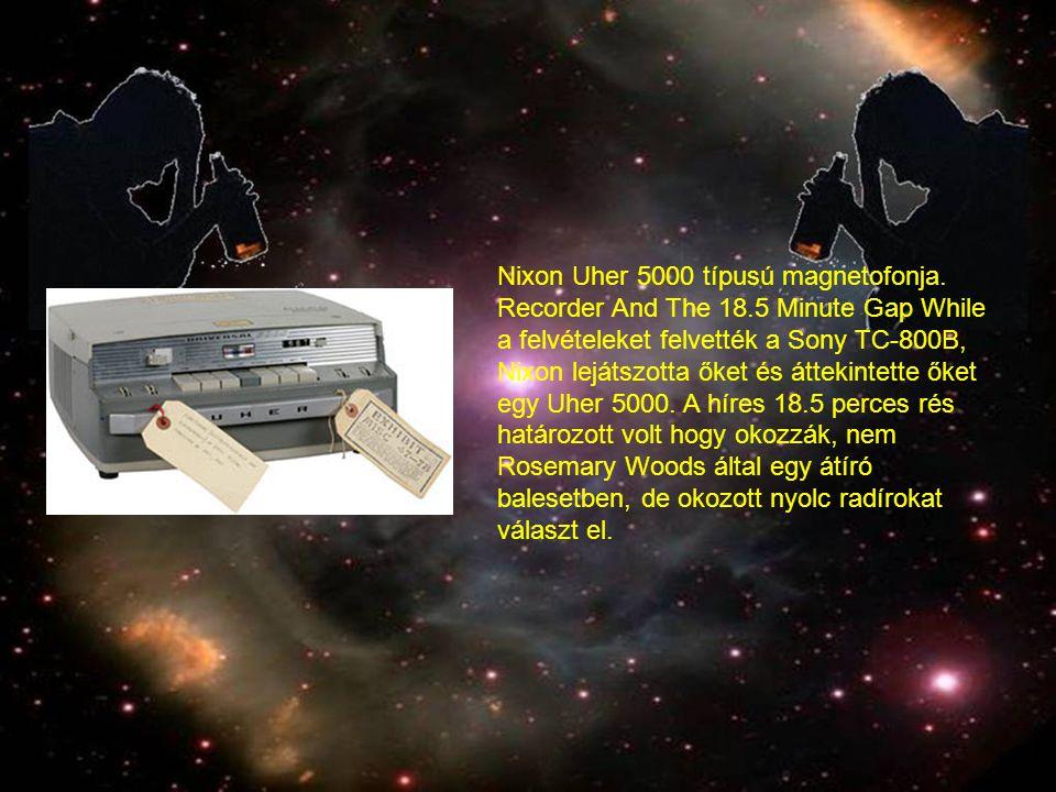 Nixon Uher 5000 típusú magnetofonja.