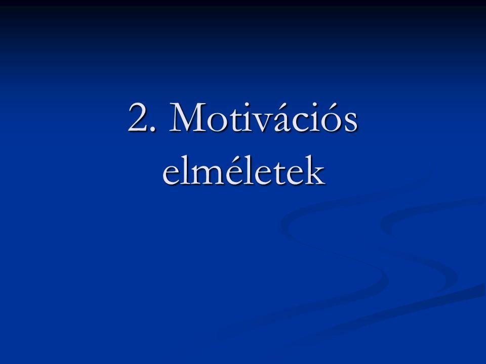 2. Motivációs elméletek