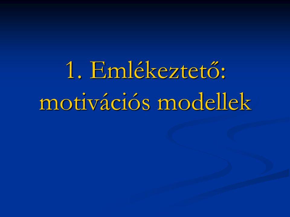 1. Emlékeztető: motivációs modellek