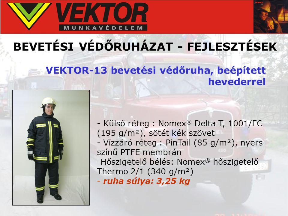 BEVETÉSI VÉDŐRUHÁZAT - FEJLESZTÉSEK VEKTOR-13 bevetési védőruha, beépített hevederrel - Külső réteg : Nomex ® Delta T, 1001/FC (195 g/m²), sötét kék s