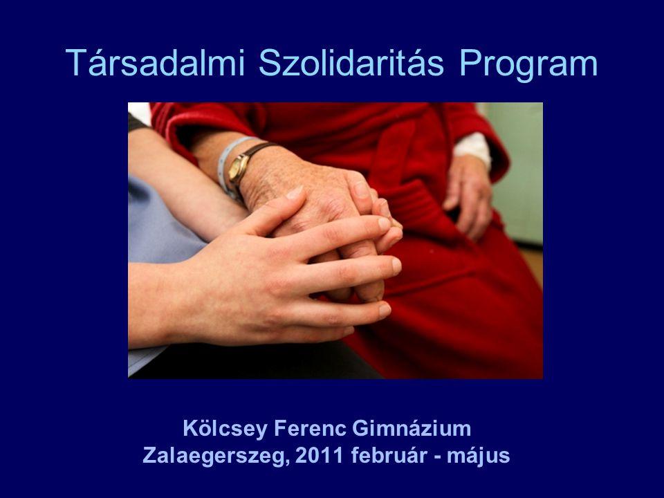 Társadalmi Szolidaritás Program Kölcsey Ferenc Gimnázium Zalaegerszeg, 2011 február - május