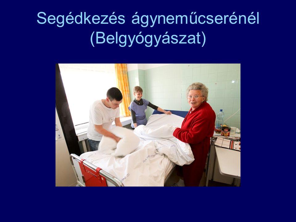 Segédkezés ágyneműcserénél (Belgyógyászat)