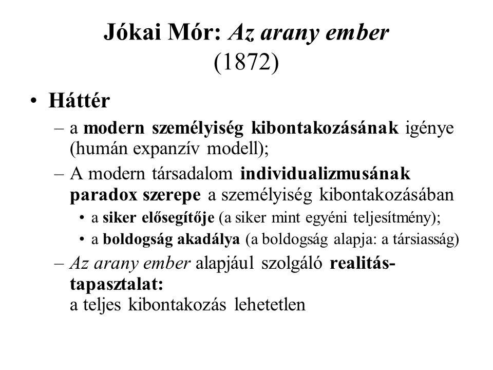 •Háttér –a modern személyiség kibontakozásának igénye (humán expanzív modell); –A modern társadalom individualizmusának paradox szerepe a személyiség