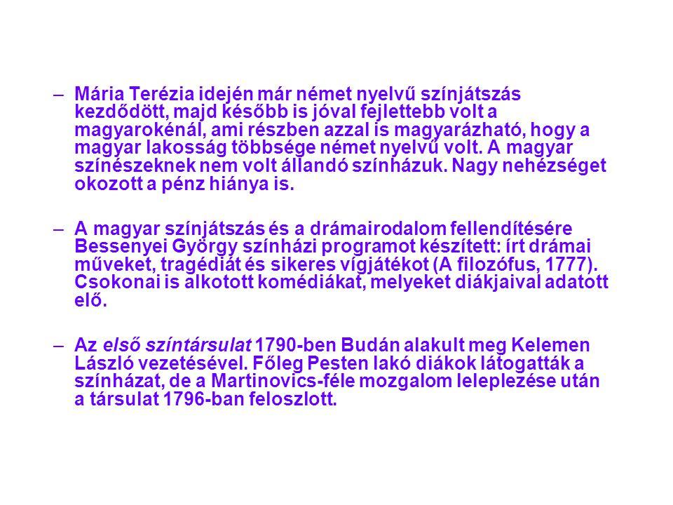 –A–A második magyar színésztársaság, neves színészekkel, 1807-15-ig játszott a fővárosban.