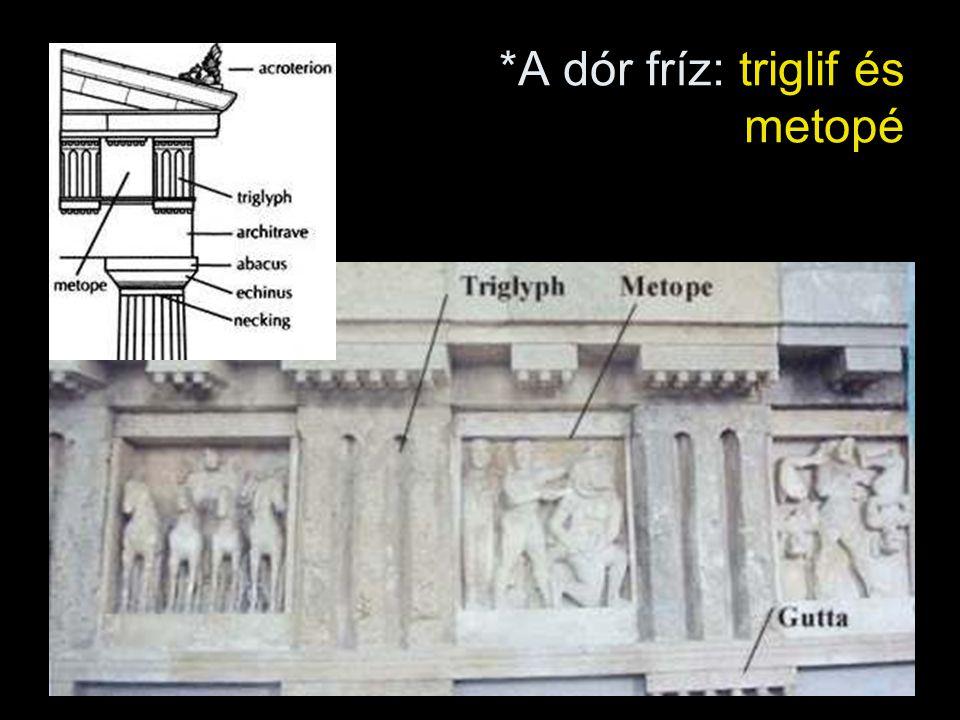 *A dór fríz: triglif és metopé