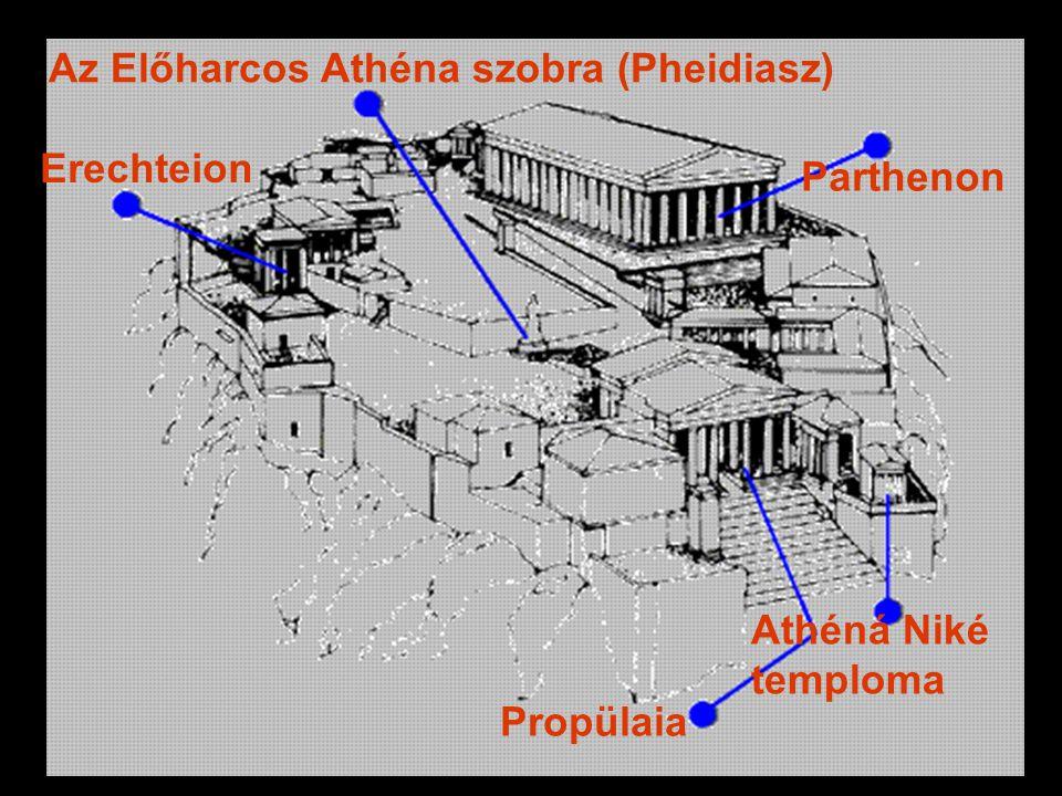 Parthenon Erechteion Propülaia Athéná Niké temploma Az Előharcos Athéna szobra (Pheidiasz)