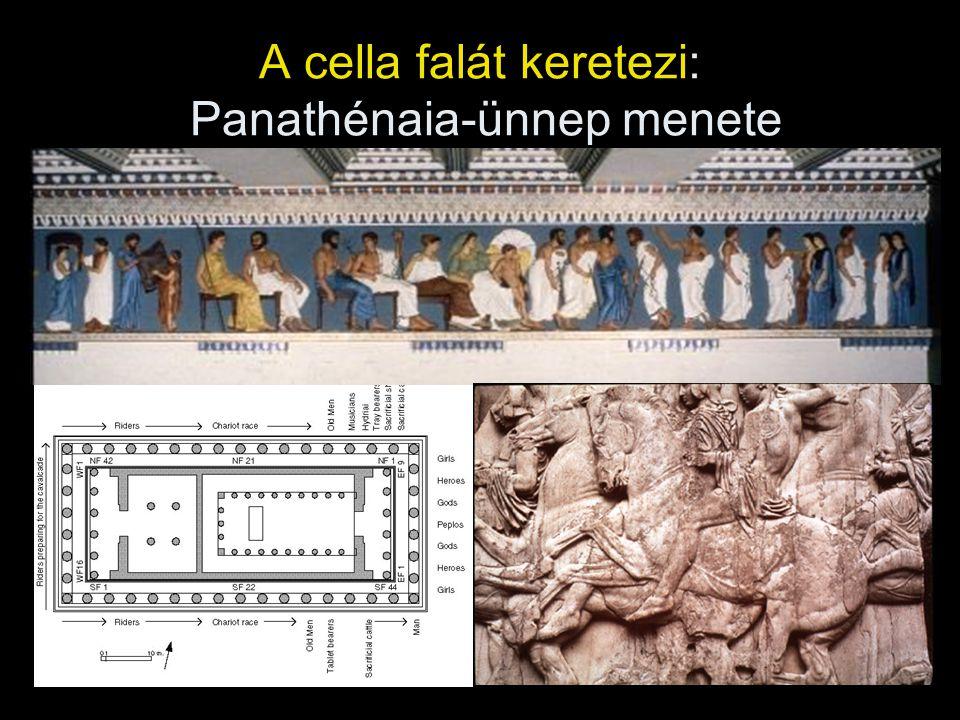 A cella falát keretezi: Panathénaia-ünnep menete