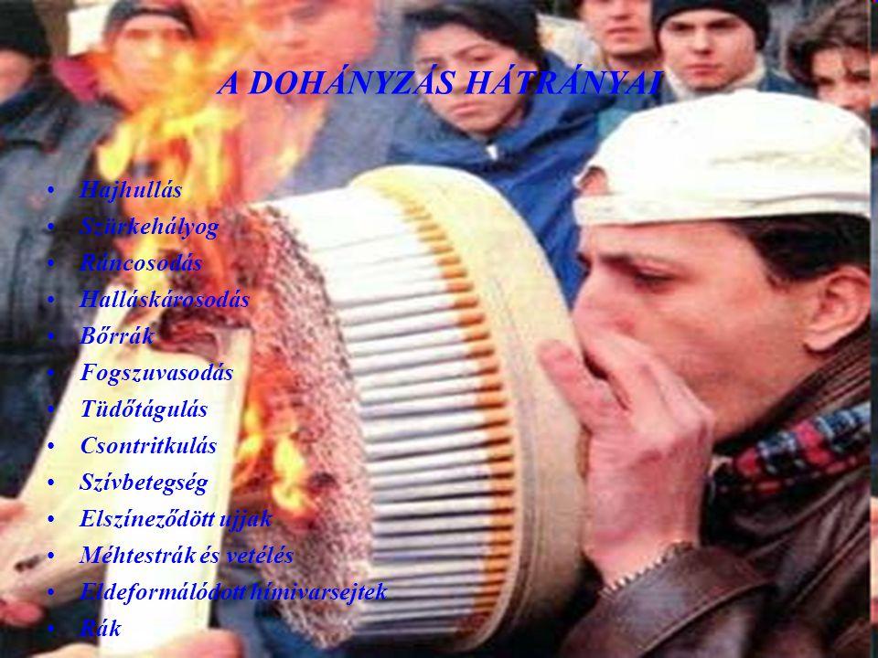 A nikotin: •A nikotin a cigaretta függőséget okozó hatóanyaga .