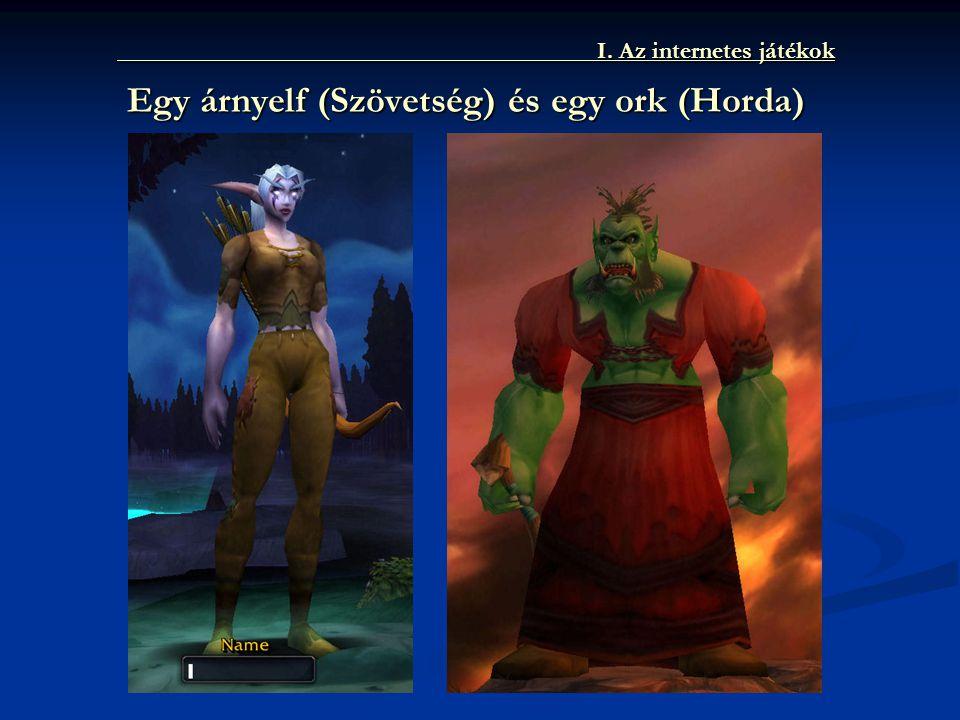 I. Az internetes játékok Egy árnyelf (Szövetség) és egy ork (Horda)