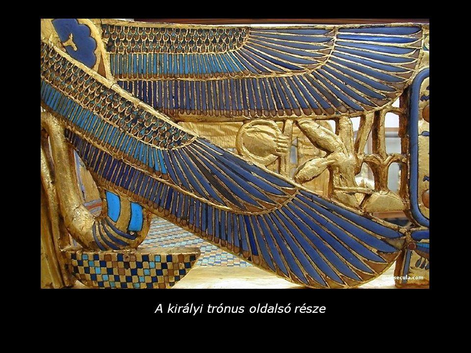 Tutanhamon és felesége – trónszék-részlet