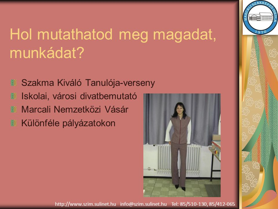 Munkafolyamatok http://www.szim.sulinet.hu info@szim.sulinet.hu Tel: 85/510-130, 85/412-065