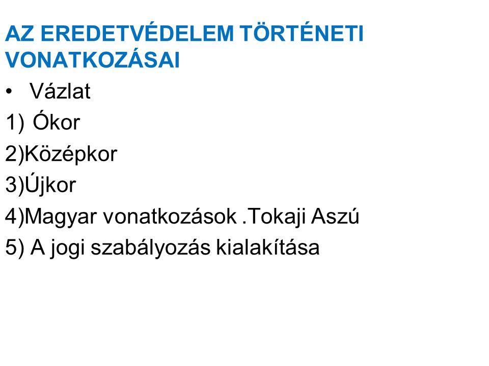 4)MAGYAR VONATKOZÁSOK •A Honfoglalás idején Magyarországon fejlett szőlőművelés folyt.