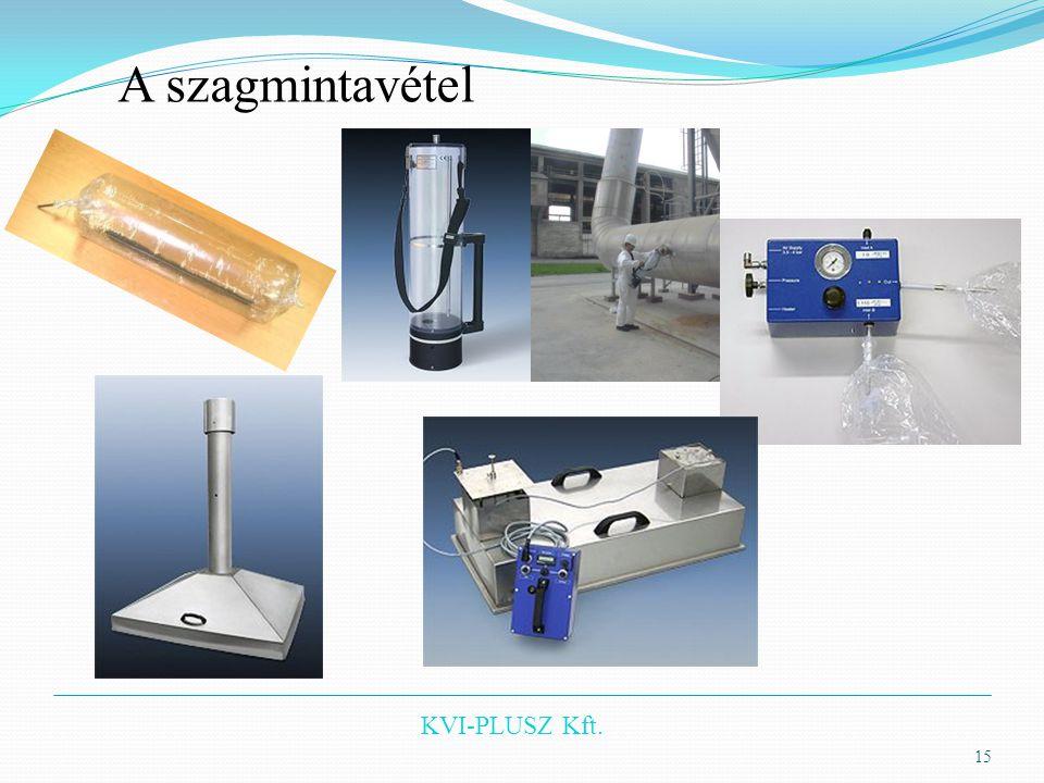 KVI-PLUSZ Kft. 15 A szagmintavétel