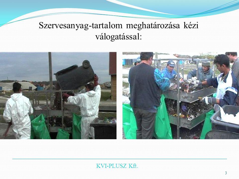 KVI-PLUSZ Kft. Szervesanyag-tartalom meghatározása kézi válogatással: 3
