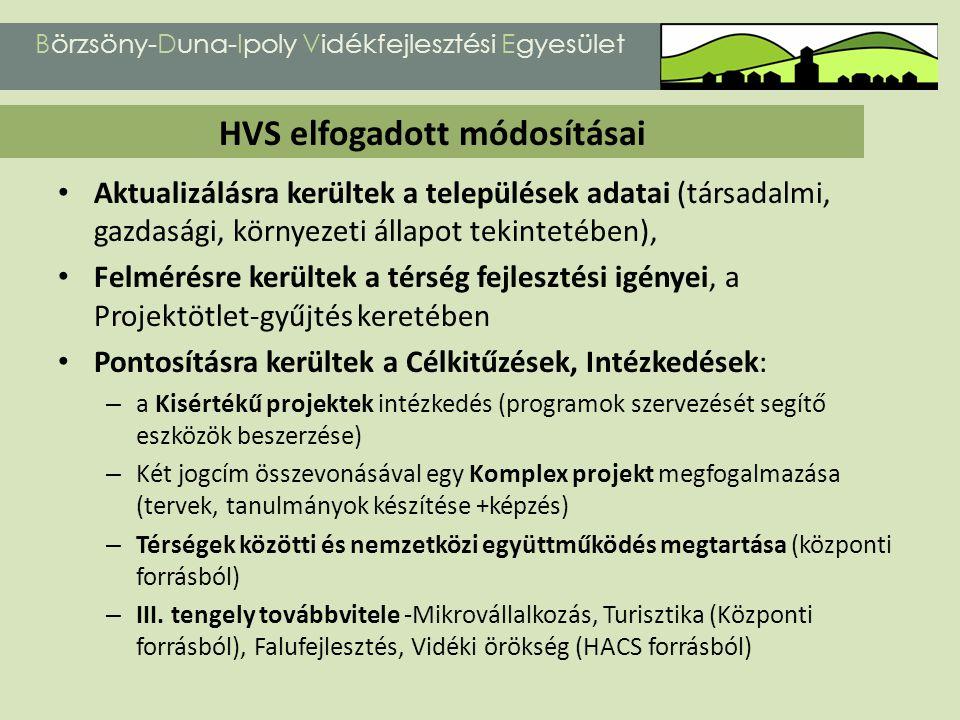 A HVS elkészítésének kiemelt részét képezte a Projektötlet-gyűjtés, mely 2011.02.15.
