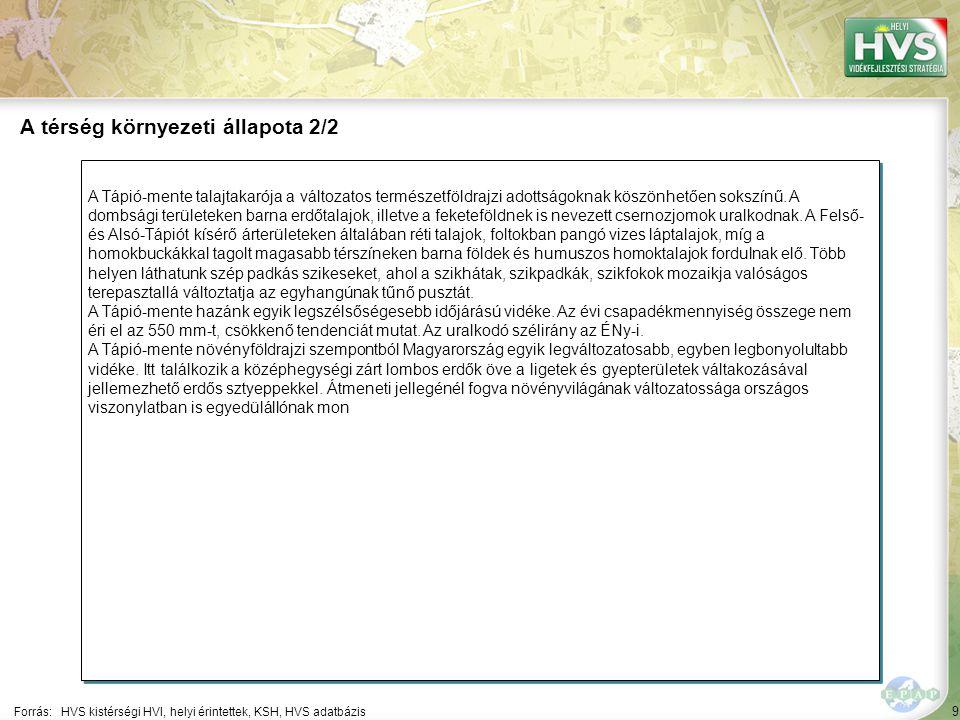 9 A Tápió-mente talajtakarója a változatos természetföldrajzi adottságoknak köszönhetően sokszínű.