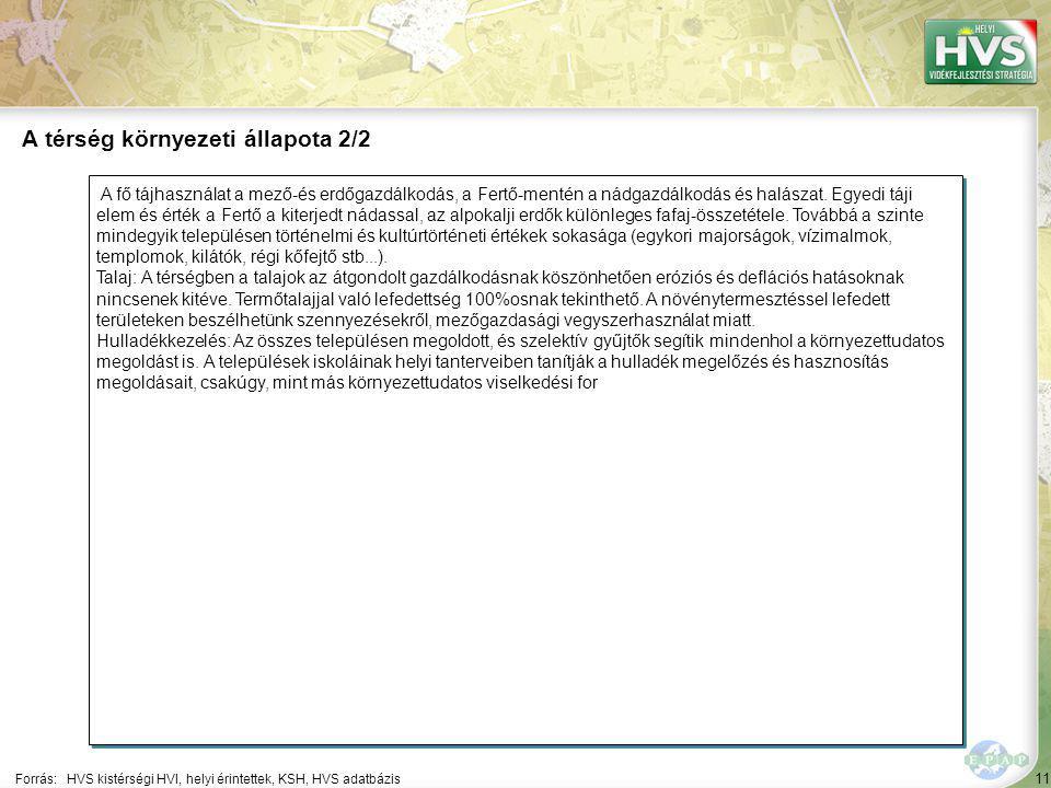 11 A fő tájhasználat a mező-és erdőgazdálkodás, a Fertő-mentén a nádgazdálkodás és halászat.