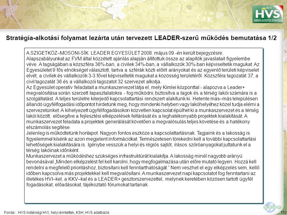 192 A SZIGETKÖZ–MOSONI-SÍK LEADER EGYESÜLET 2008. május 09.-én került bejegyzésre. Alapszabályunkat az FVM által közzétett ajánlás alapján állítottuk