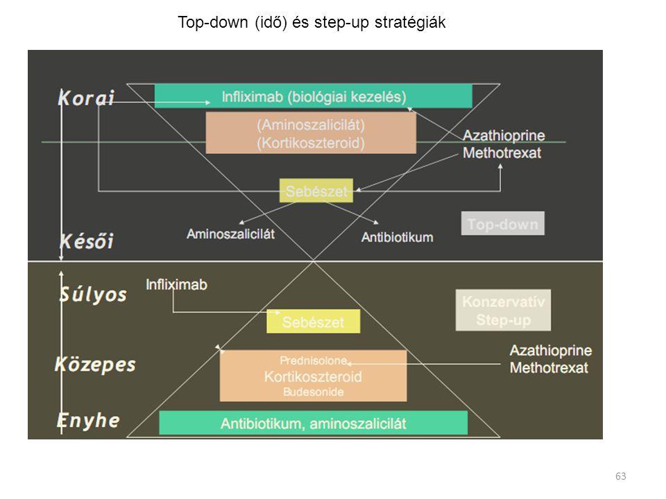 Top-down (idő) és step-up stratégiák 63