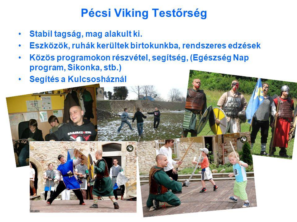 Pécsi Viking Testőrség •Stabil tagság, mag alakult ki.