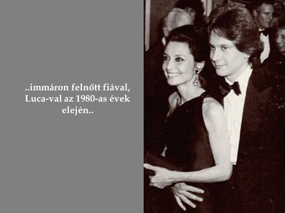 Második házasságából született kisfiával: Luca-val