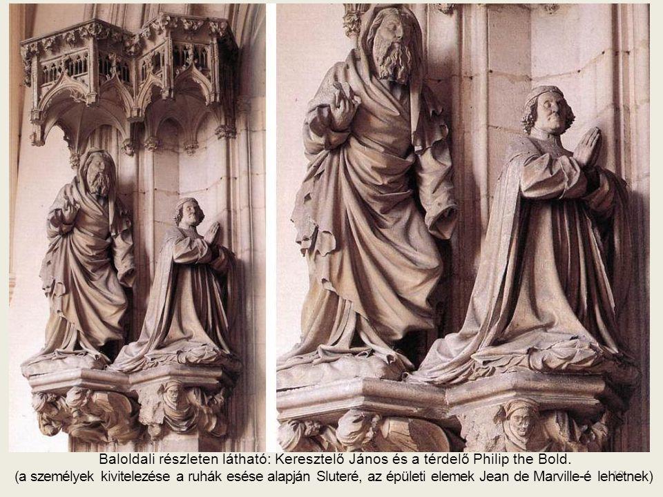 9 A szűz és a gyermek Először az itt látható szobor volt kész (1400) csodálatos finoman cizellált formában, magas, karcsú, sugárzó tekintettel.