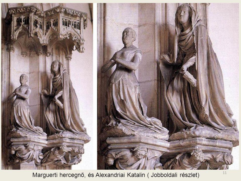 10 Baloldali részleten látható: Keresztelő János és a térdelő Philip the Bold. (a személyek kivitelezése a ruhák esése alapján Sluteré, az épületi ele