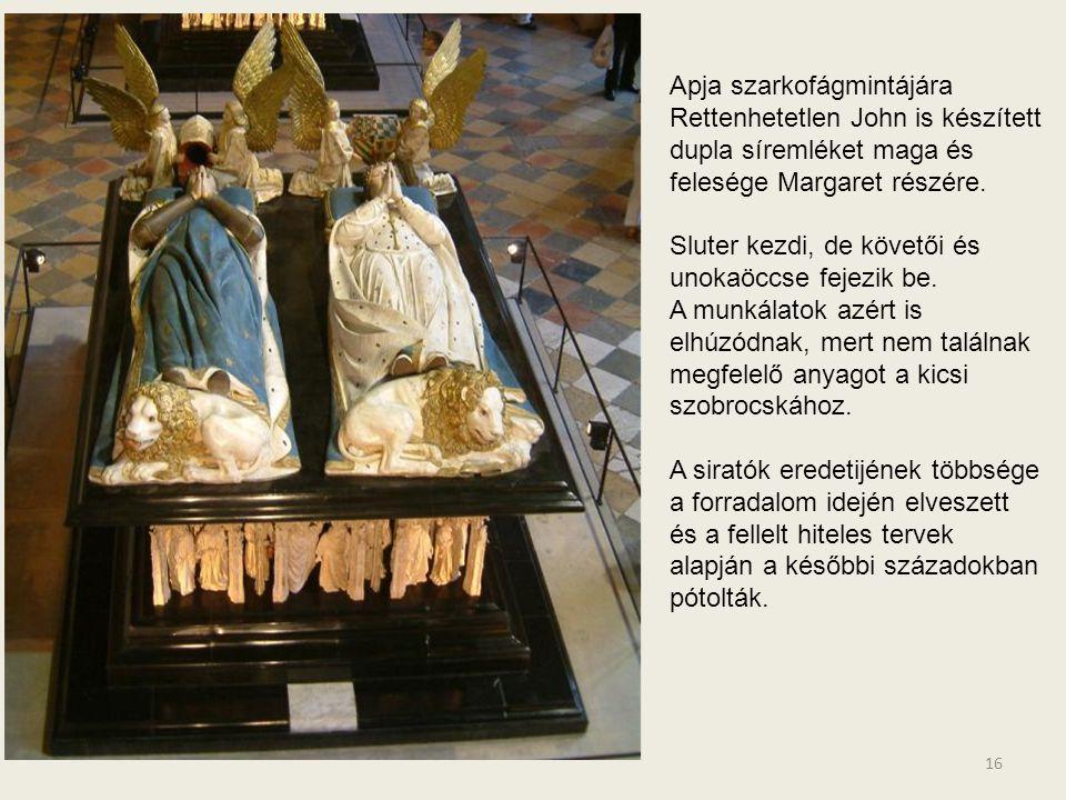 15 Nincs közöttük egyforma. Alabástrom szobrocskák 39-40 cm-esek. Arcukon spirituális átszellemültség, a megrendülés látható.