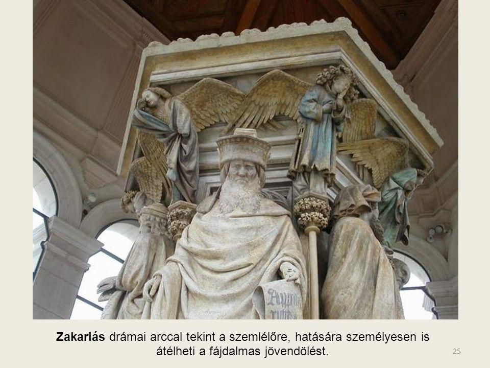 Jeremiás a tudóspróféta kötetéből olvassa - Jézus, kínhalála után megdicsőül. A hiteles dokumentumok, számlák arra utalnak, hogy arany szemüvege volt.