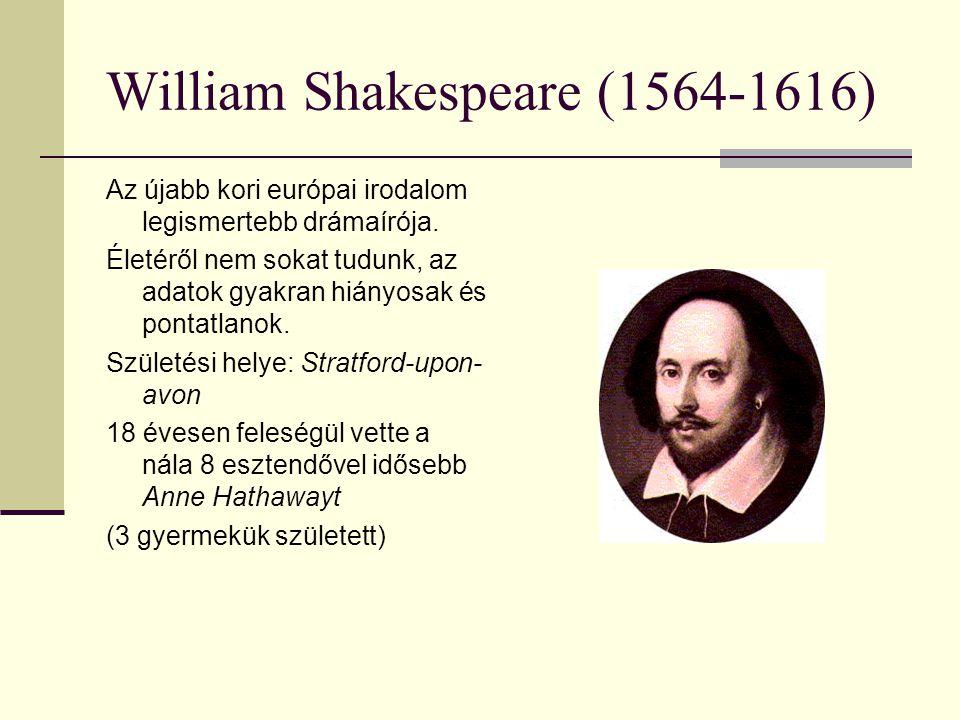 1585 k.elhagyta városát és Londonba költözött, ahol kapcsolatba került a színházzal 1599.