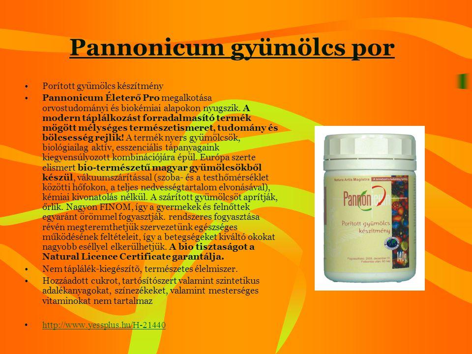 Vitamin komplexum •Készült: 60% homoktövis-húsolaj 20% hidegen sajtolt szõlõmag olaj 20% hidegen sajtolt tökmagolaj Mivel mindhárom összetevõ magas élettani értékekkel bíró növény, magas az antioxidáns, vitamin és ásványi anyag tartalmuk, különös tekintettel A, E, F, C, D, K vitaminokra, melyek szinergista hatásúak egymásra (egymást erõsítõ hatás).