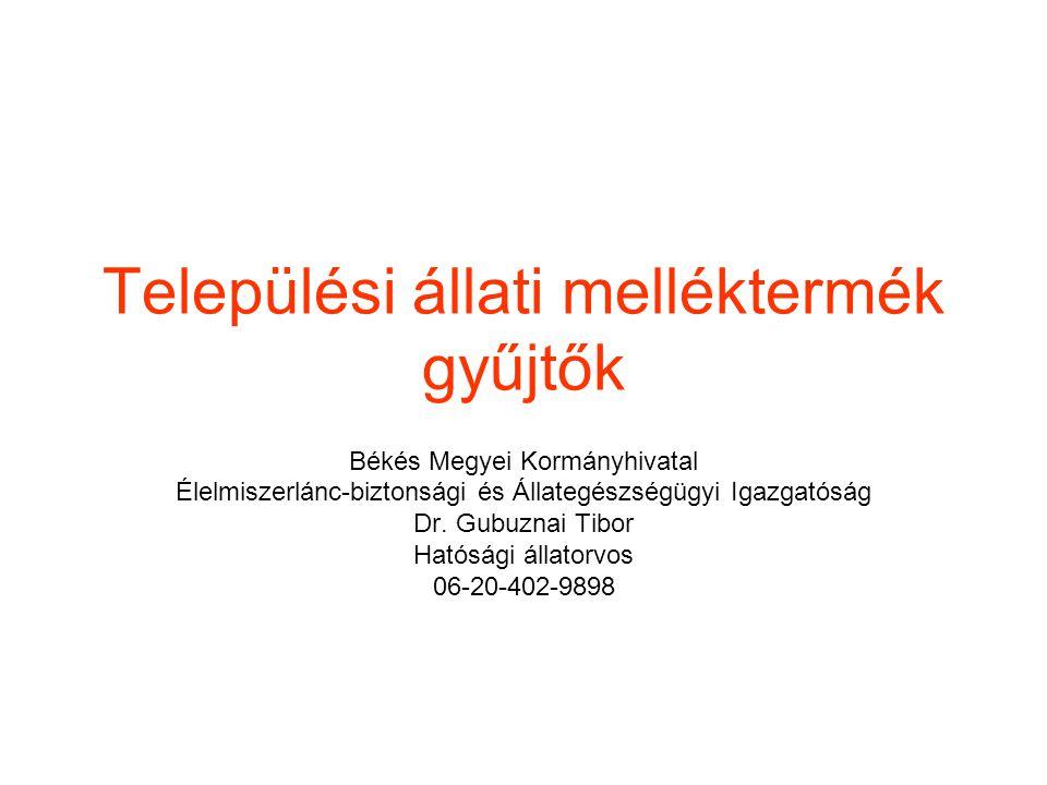 Jogi szabályozás (történeti áttekintés) 41/1997.(V.8.) FM rendelet 5.