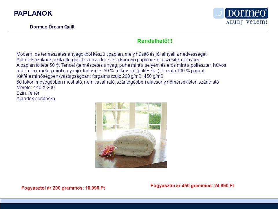 PAPLANOK Dormeo Dream Quilt Modern, de természetes anyagokból készült paplan, mely hűsítő és jól elnyeli a nedvességet.