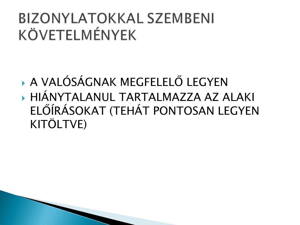  Munkába állás dokumentumai  A munkaviszony során fennálló munkaügyi dokumentumok  Munkaviszony megszüntetésekor létesítendő dokumentumok