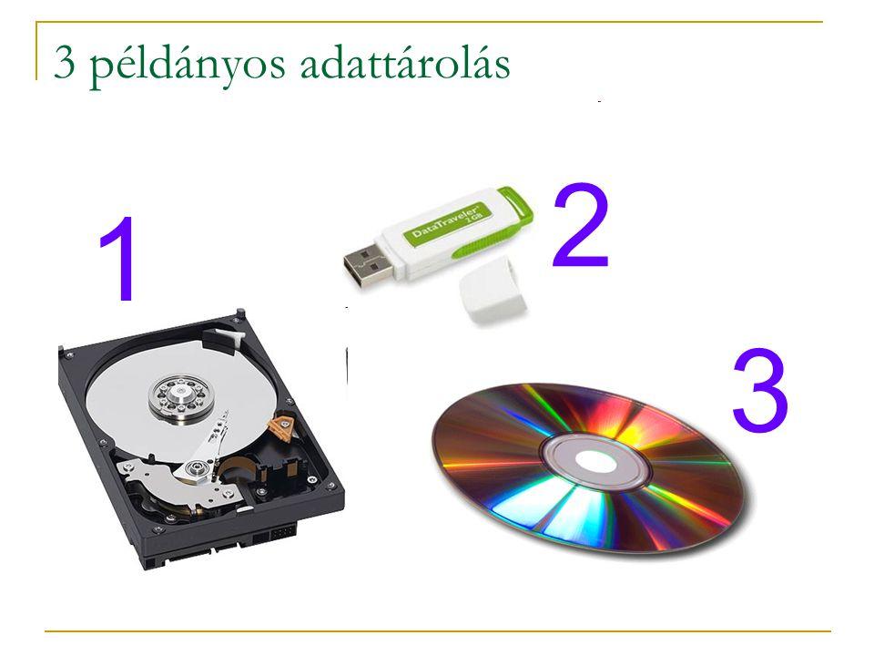 3 példányos adattárolás 1 3 2