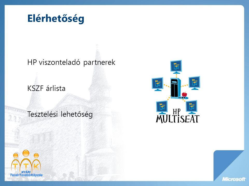 Elérhetőség HP viszonteladó partnerek KSZF árlista Tesztelési lehetőség