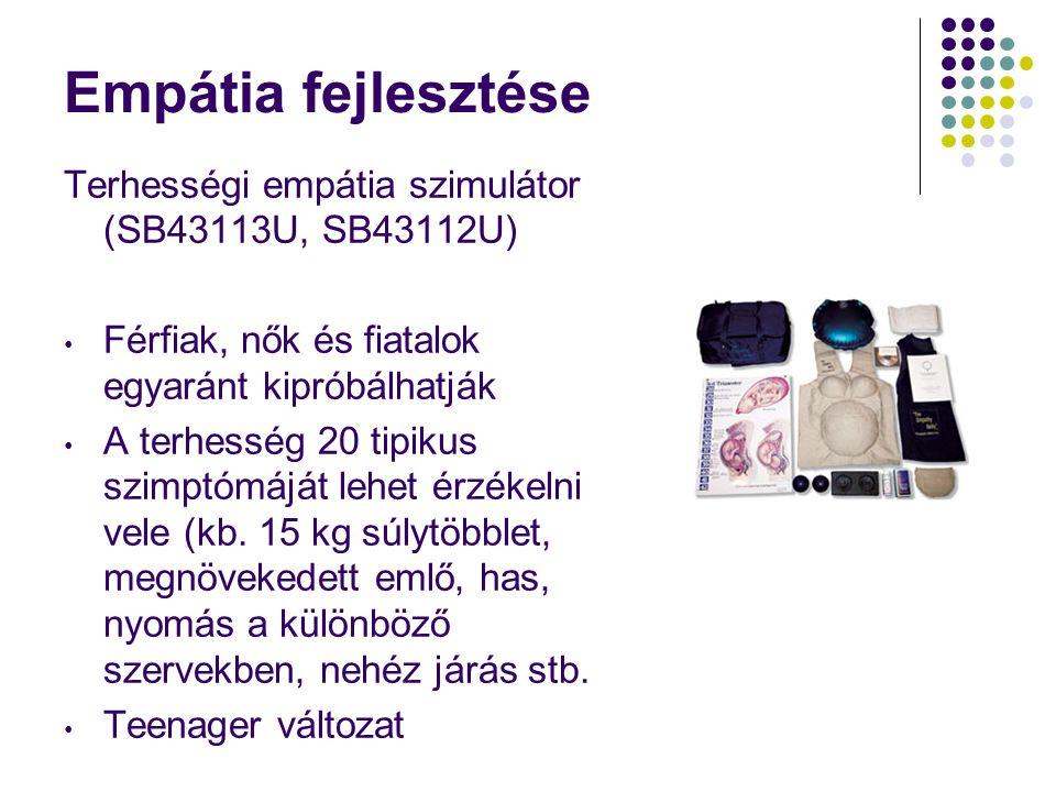 Empátia fejlesztése Terhességi empátia szimulátor (SB43113U, SB43112U) • Férfiak, nők és fiatalok egyaránt kipróbálhatják • A terhesség 20 tipikus szi