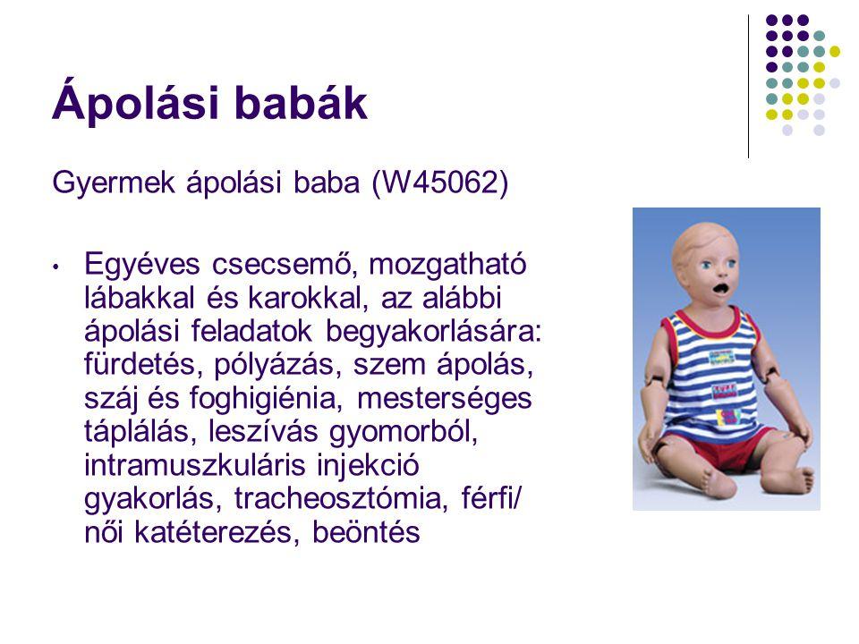 Ápolási babák Gyermek ápolási baba (W45062) • Egyéves csecsemő, mozgatható lábakkal és karokkal, az alábbi ápolási feladatok begyakorlására: fürdetés,