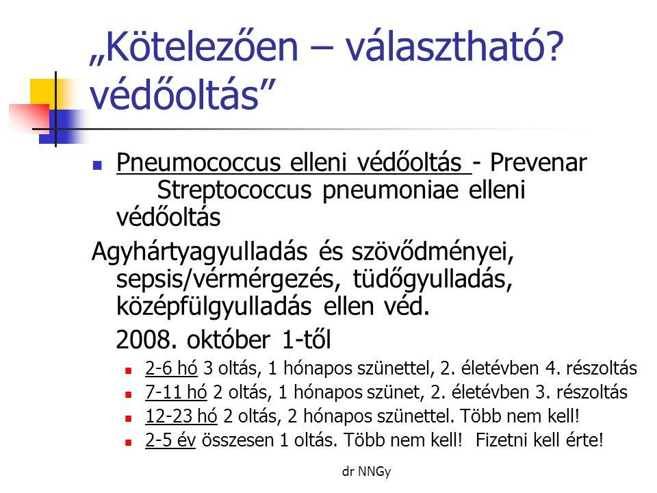 """dr NNGy """"Kötelezően – választható? védőoltás""""  Pneumococcus elleni védőoltás - Prevenar Streptococcus pneumoniae elleni védőoltás Agyhártyagyulladás"""