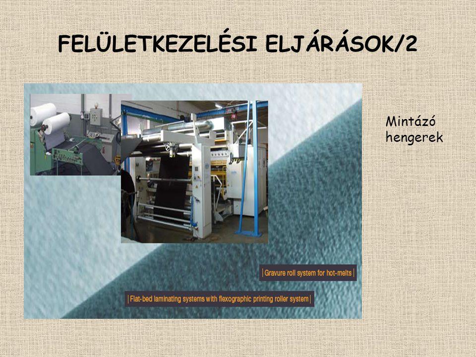 FELÜLETKEZELÉSI ELJÁRÁSOK/2 Mintázó hengerek